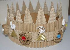 couronne en carton de récup