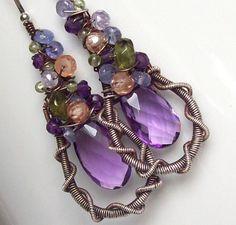 SALE      Napa Vineyards Gemstone Earrings. $89.00, via Etsy.