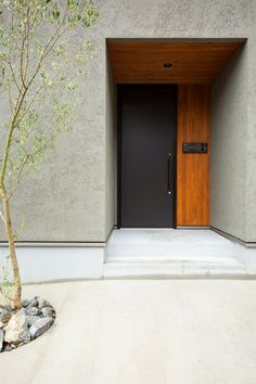 Dream Home Design, My Dream Home, House Design, House Front Door, House Entrance, Modern Entrance, Archi Design, Japanese House, Outdoor Decor