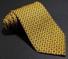 Vtg Polo Ralph Lauren Yellow Silk Foulard Paisley Hand Made Italy Mens Neck  Tie   eBay 2bb585831f3
