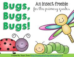 Insects - Tons of freebies! FREE insect mini-unit for the primary grades! 1st Grade Science, Kindergarten Science, Science Classroom, Teaching Science, Primary Classroom, Teaching Resources, Classroom Resources, Teaching Tools, Teaching Ideas