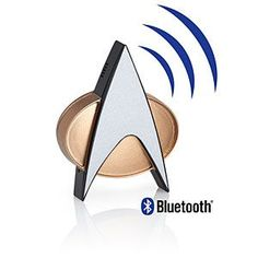 It hooks up to your phone or device via Bluetooth® and has a built-in microphone for hands-free calling. Once connected, one touch answers/ends calls, plays/pauses audio, or accesses Siri, Google Now, or Cortana. And, of course, a touch plays that classic communicator sound effect.