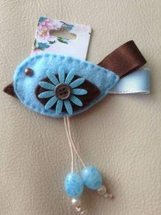 Handmade Bird Brooch felt