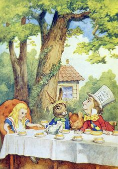 John Tenniel   The Mad Hatter's Tea Party, illustration from 'Alice in Wonderland' by Lewis Carroll   Buy Prints Online