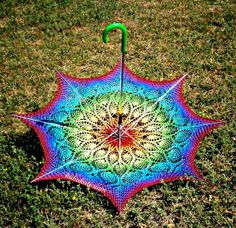 Crochet Umbrella - Pineapple Lace Parasol by babukatorium,