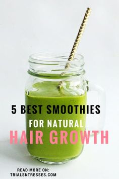 Hair Remedies Best Smoothies For Natural Hair Growth I really like the idea behind the Sweet Potato one! - Natural Hair growth is based on a lot of things and what you eat is at the top of the list. Here are the 5 best smoothies for natural hair growth. How To Grow Natural Hair, Natural Hair Tips, Natural Hair Styles, Natural Things, Natural Oils, Natural Skin, Hair Growth Shampoo, Curly Girls, Hair And Beauty
