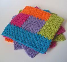 Simply Square Log Cabin Dishcloth: free crochet pattern