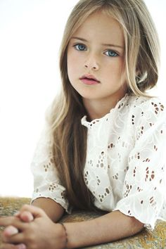 Kristina Pimenova. This little girl is insanely beautiful. Growing up as a model, I hope she doesn't have the same problem a lot of other models do.