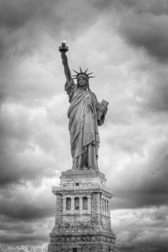 Statue Of Liberty (Full Length Photo)  new york city photography Photographed with Infrared.   From 8 x 12 to 24 x 36 inches.