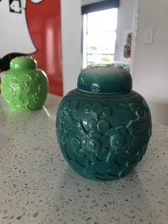 Crown Lynn Teal Ginger Jar | Trade Me Ginger Jars, Teal, Crown, Vase, Beautiful, Home Decor, Corona, Decoration Home, Room Decor