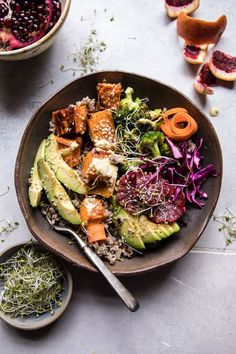 Vibrant Spring Broccoli Buddha Bowl | halfbakedharvest.com #healthy #vegan #recipes #avocado