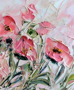 Flower Wall Canvas Flower Oil Painting Art Decor Abstract