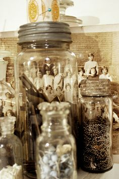 Vintage jars & photos