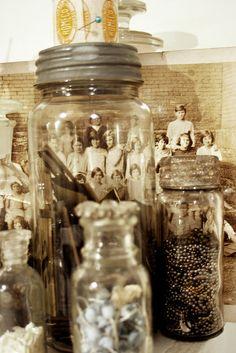 Vintage jars & photos