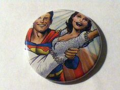 "Halloween Sale// Comic Book 1.5"" Button// Superman and Lois Lane, $0.50"