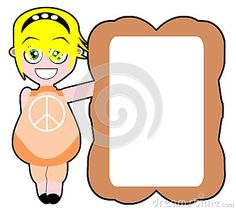 Image representing a cartoon girl with a signboard in her hands
