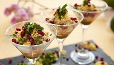 paaprichaat in martini glasses
