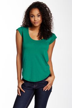 Alternative | Perfect Cap Sleeve Crew | HauteLook