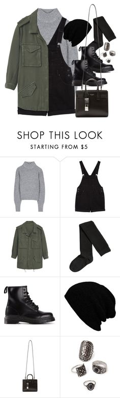 """Style #11579"" by vany-alvarado ❤ liked on Polyvore featuring Acne Studios, Monki, MANGO, H&M, Dr. Martens, KBETHOS, Yves Saint Laurent and Forever 21"