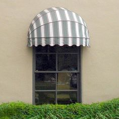 Dome awnings Front Door Awning, Window Awnings, House Ceiling Design, House Design, Canvas Awnings, Aluminum Awnings, Europe Fashion, Exterior Remodel, Shop Front Design