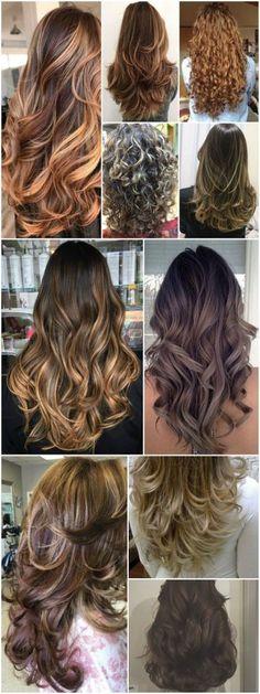 New Hair Peinados Medio Media Melena Ideas Haircuts For Long Hair With Layers, Long Hair Cuts, Honey Hair, Brown Blonde Hair, Haircut And Color, Beautiful Long Hair, Layered Hair, Hair Highlights, Ombre Hair