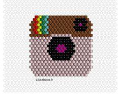 Tissage de perles miyuki : le logo Instagram #brickstitch #miyki