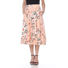Spruce up your attire with this lovely midi skirt. The polyester and   spandex skirt will add some elegance to any outfit. Made with a circle   cut design, this skirt is cool and light to keep you comfortable on  hot  days. Midi Skirt With Pockets, Midi Flare Skirt, Flared Skirt, I Love Makeup, A Line Skirts, Midi Skirts, Long Skirts, Summer Skirts, Colorful Fashion