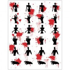 Zombie Stickers (4 Sheets)