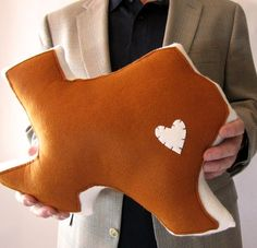 Customizable Texas State Pillow by lovecalifornia on Etsy, $54.00