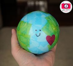We've got the whole world in our hands/Earth Day/balloon+paper mache.