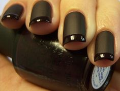 Black french~ mattte with glossy...thank you OPI!