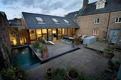 Stone-glass house - outdoor perfection!