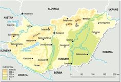 Topographic map of Hungary Teaching Aids, Topographic Map, Bratislava, Hungary, Instant Access, Activity Ideas, Geography, Homework, Literature