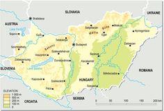 Allgemeine geographische Karte - Ungarn