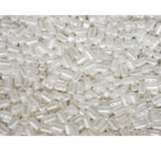 10gr Czech Glass Two Hole Seed Beads Rulla 3x5mm Pastel White