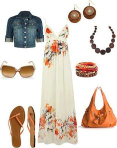 This maxi dress outfit :)