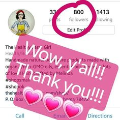 Thank you all so much for a great start to 2017!! My 1st Quarter and y'all have me at 800 followers. My goal was 1000 by May and I'm almost there! Thank you for supporting small business.  . . . #smallbiz #bossgirl #womeninbusiness #thehealthyfarmgirl #shopsmall #shopok #shophandmade #allnaturalskincare #NoGMOs #organicskincare