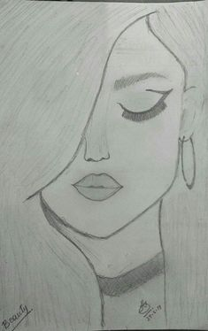 You know it kinda looks like selena gomez amazing drawings, easy drawings, cute drawings Easy Pencil Drawings, Easy Drawings Sketches, Cool Art Drawings, Beautiful Drawings, Drawing Ideas, Simple Sketches, Drawing Tips, Pencil Drawings Tumblr, Pencil Drawing Inspiration