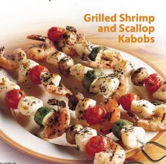 Grilled shrimp and scallop kabobs diabetes  heart-healthy #recipes