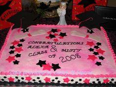 High School Graduation Cake Ideas   ... graduation cakes class of 2008 the pink black star cake was for a dear