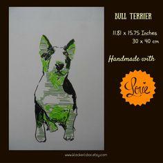 Illustration: Bull Terrier  Formst: 30 x 40 cm  Jahr: 2016  Technik: Mischtechnik  Material: Acrylstifte, Fineliner, Aquarellpapier (200g/qm)  Unikat: Ja  Signiert: Ja   Shop this product here: spreesy.com/kleckerlabor_blog/91   Shop all of our products at http://spreesy.com/kleckerlabor_blog      Pinterest selling powered by Spreesy.com