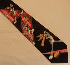 NWOT 1993 Looney Tunes Bugs Bunny Sports Theme Balancine Hot Cakes Neck Tie #Balancine #Tie
