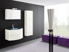 Bagno lilla ~ Rivestimento bianco lucido queen rivestimenti bagno