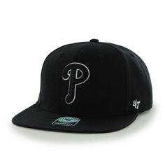 Philadelphia Phillies Sure Shot Black 47 Brand Adjustable Hat 237291fb51fe