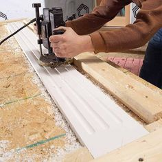 Rout Profiles with Carbide-Tipped Router Bits - Tips for Working with PVC Trim: http://www.familyhandyman.com/carpentry/trim-carpentry/tips-for-working-with-pvc-trim