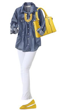 Yellow Tote Bag by daiscat on Polyvore featuring polyvore, fashion, style, Old Navy, Miss Sixty and clothing