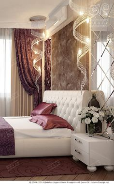 12 moderne und luxuriöse Schlafzimmer im Barockstil 12 modern and luxurious bedrooms in Baroque style Art Deco Bedroom, Master Bedroom Design, Home Decor Bedroom, Bedroom Designs, Master Bedrooms, Bedroom Curtains, Bedroom Furniture, Deco Furniture, Mirror Bedroom