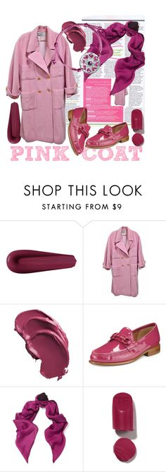 """Cosy city"" by ledile ❤ liked on Polyvore featuring Chanel, Salvatore Ferragamo, Halston Heritage, Winter, Pink, russian and ledile"
