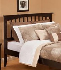 Mission Queen Headboard Only in Espresso by Atlantic Furniture by Atlantic Furniture. $141.10. Eco-Friendly, solid hardwood construction. Our painted furniture may also utilize CARB certified low formaldehyde MDF produced from plantation-grown hardwood.. Headboard attaches to a metal bed frame. The simple, yet elegant style of the Mission Bed will compliment any bedroom setting. The Traditional look and feel of the slats matched with generous crown molding make ...