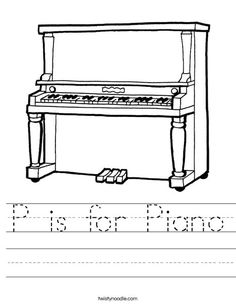 How to Draw a Grand Piano for Kids Step by Step Piano